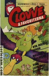 Clovve & favoriterna 1986 nr 1 omslag serier