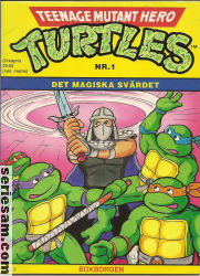Teenage Mutant Hero Turtles Bokborgen 1991 nr 1 omslag serier