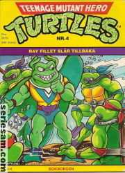 Teenage Mutant Hero Turtles Bokborgen 1992 nr 4 omslag serier