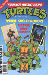 Teenage Mutant Hero Turtles 1990 nr 1 omslag serier