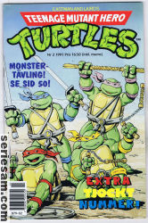 Teenage Mutant Hero Turtles 1991 nr 2 omslag serier